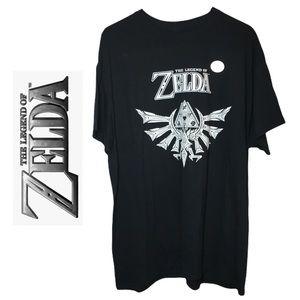 The Legend Of Zelda Black & White Short Sleeve T Shirt Nintendo Gamer Apparel